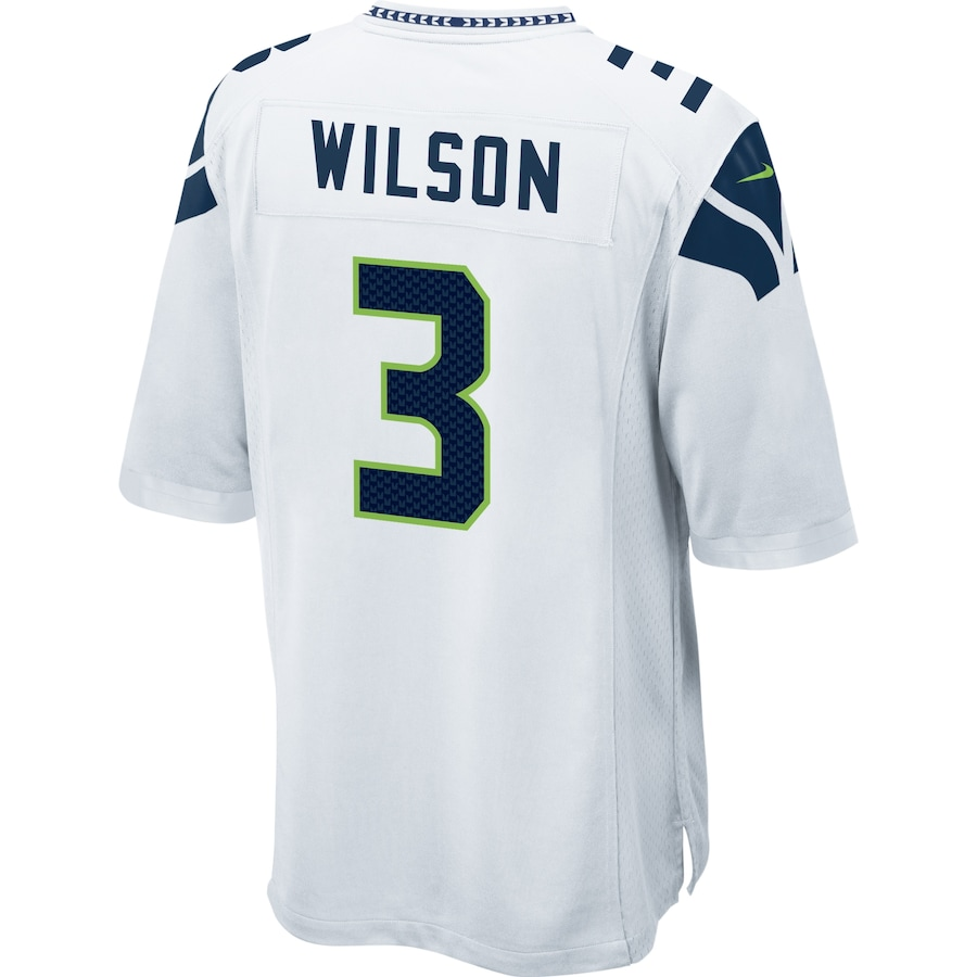 Russell Wilson #3 Seattle Seahawks Nike Game Jersey - White