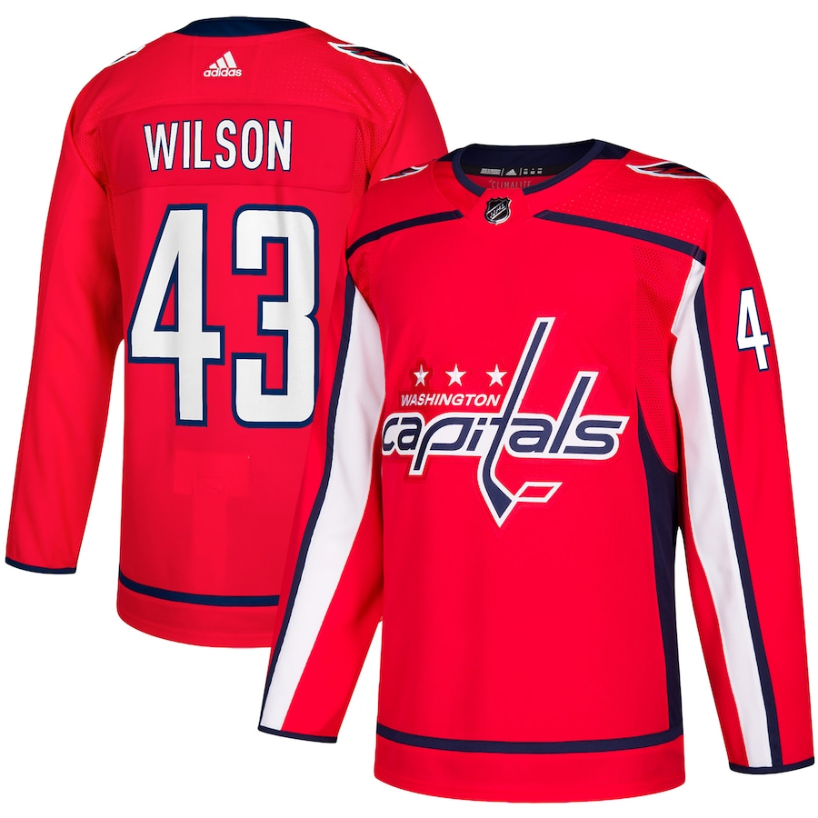 Tom Wilson #43 Washington Capitals adidas Home Authentic Player Jersey - Red