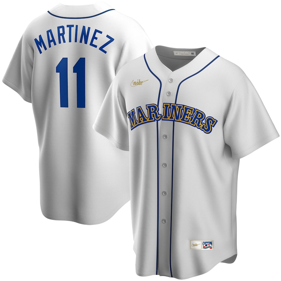 Edgar Martinez #11 Seattle Mariners Nike Home Cooperstown Collection Replica Player Jersey - White