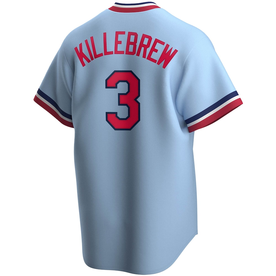 Harmon Killebrew #3 Minnesota Twins Nike Road Cooperstown Collection Player Jersey - Light Blue