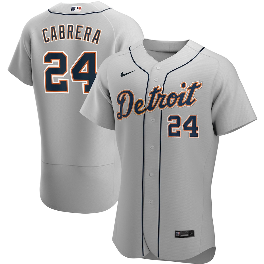 Miguel Cabrera #24 Detroit Tigers Nike Road 2020 Authentic Player Jersey - Gray