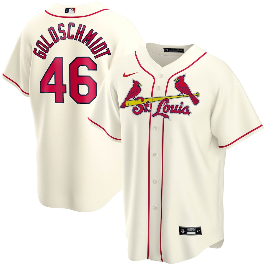 Paul Goldschmidt #46 St. Louis Cardinals Nike Alternate 2020 Replica Player Jersey - Cream