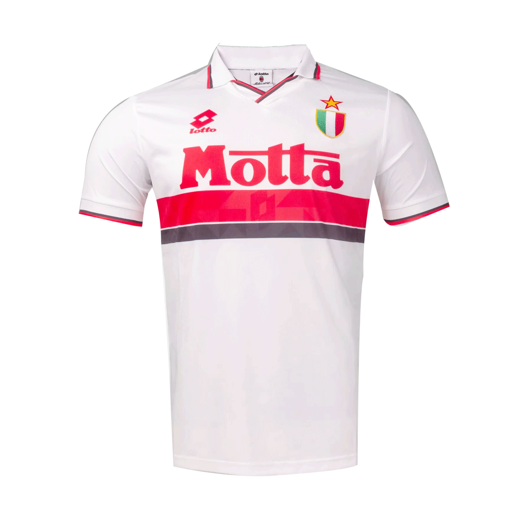 93/94 AC Milan Away Retro Soccer Jerseys Classic Shirt White