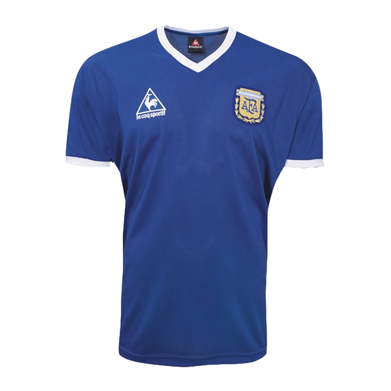 Retro Argentina Away Jersey 1986 By Le Coq Sportif