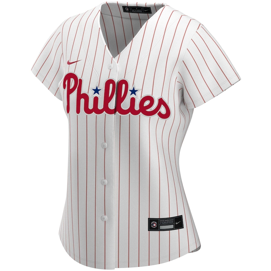 2020 Women's Philadelphia Phillies Home Custom Jersey Nike Replica Shirt-White&Scarlet