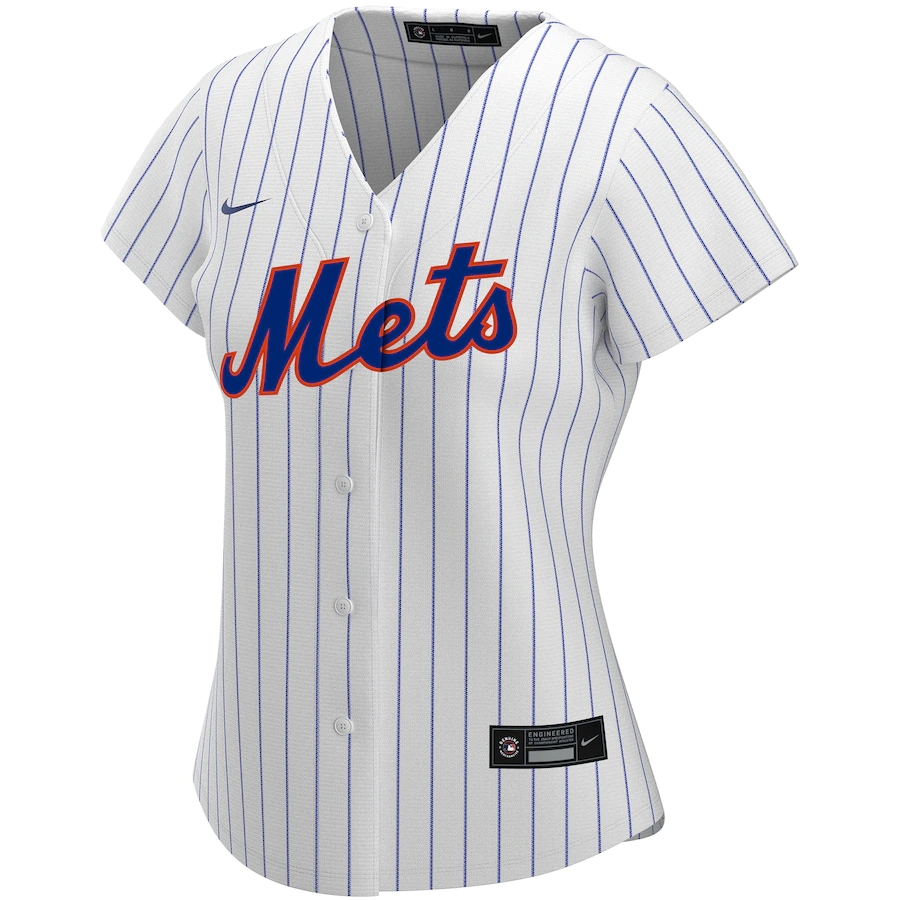 Women's  2020 New York Mets Home Custom Jersey Replica Nike MLB Jersey-White&Royal