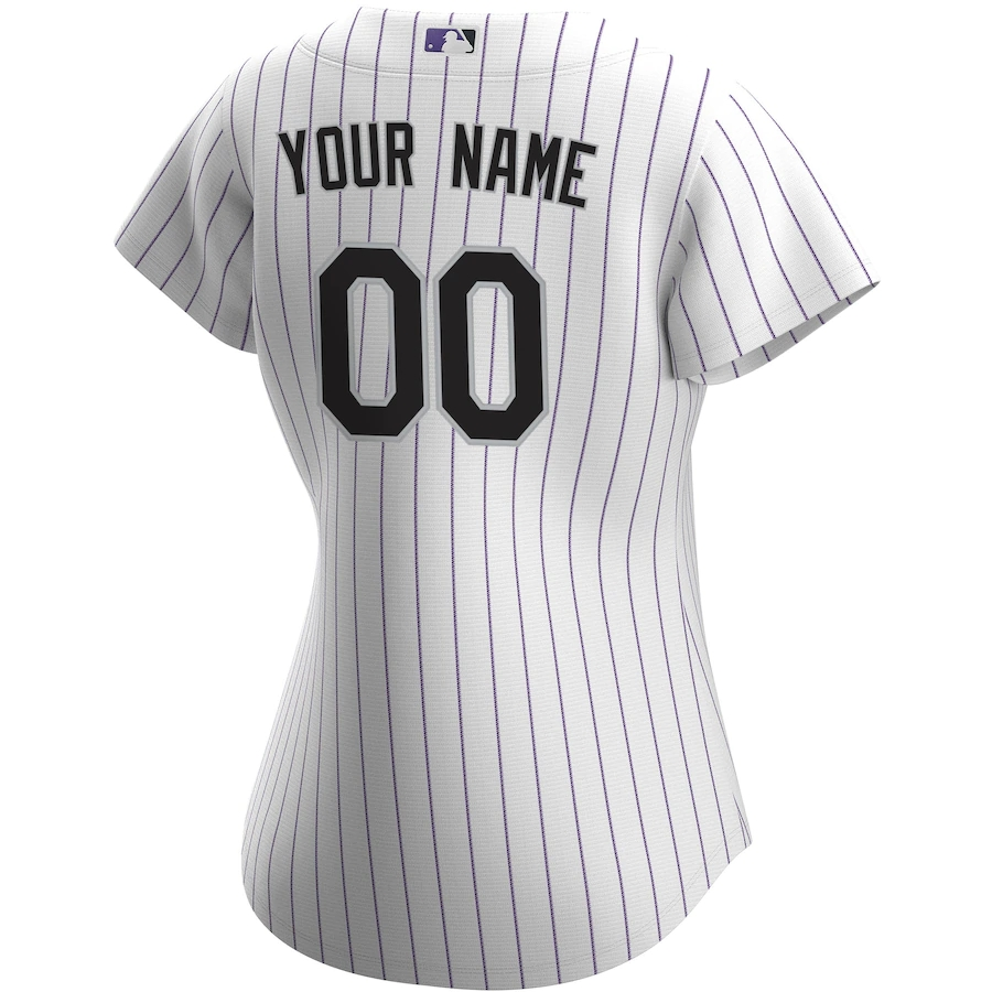 2020 Women's Colorado Rockies Home Custom Jersey Nike Replica Jersey-White&Purple