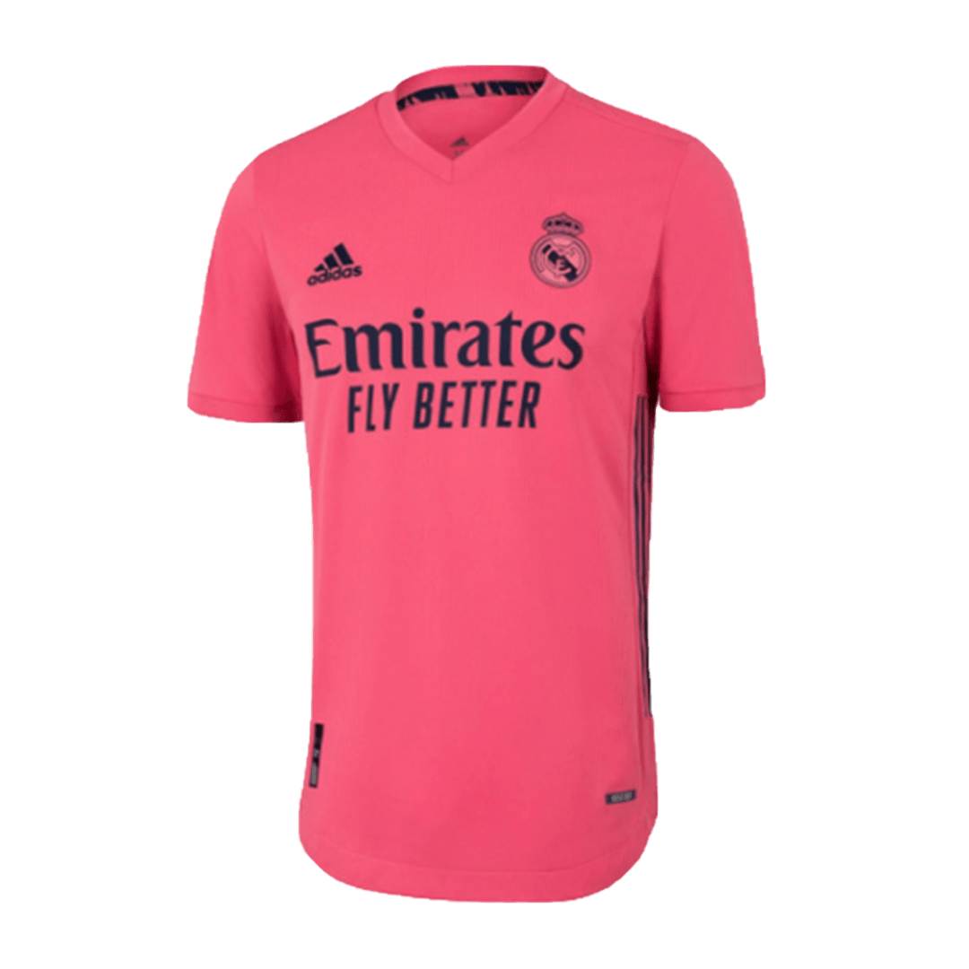20/21 Real Madrid Away Authentic Jersey Pink Soccer Jerseys Shirt