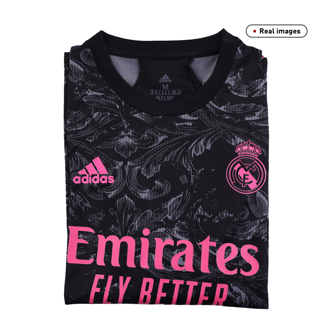 20/21 Real Madrid Third Away Authentic Jersey Black Soccer Jerseys Shirt