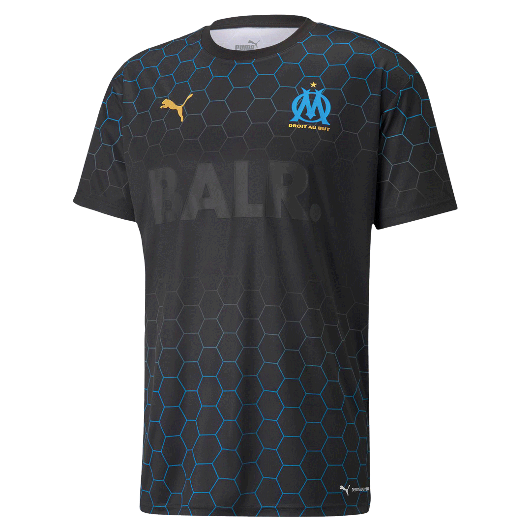Marseille X BALR Signature Men's Jersey Black Soccer Jerseys Shirt