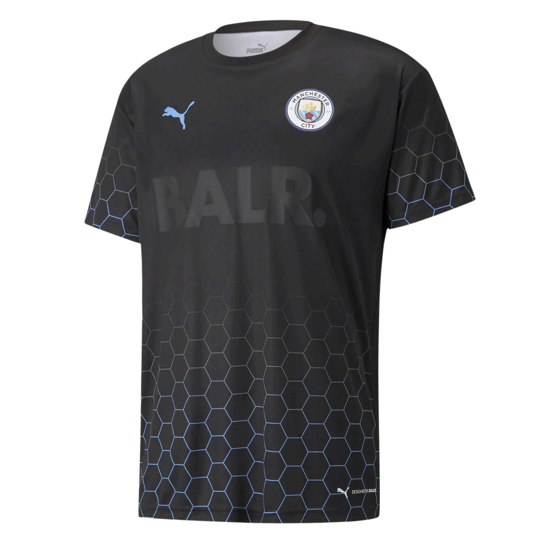 Manchester City X BALR Signature Men's Soccer Jersey Black Soccer Shirt