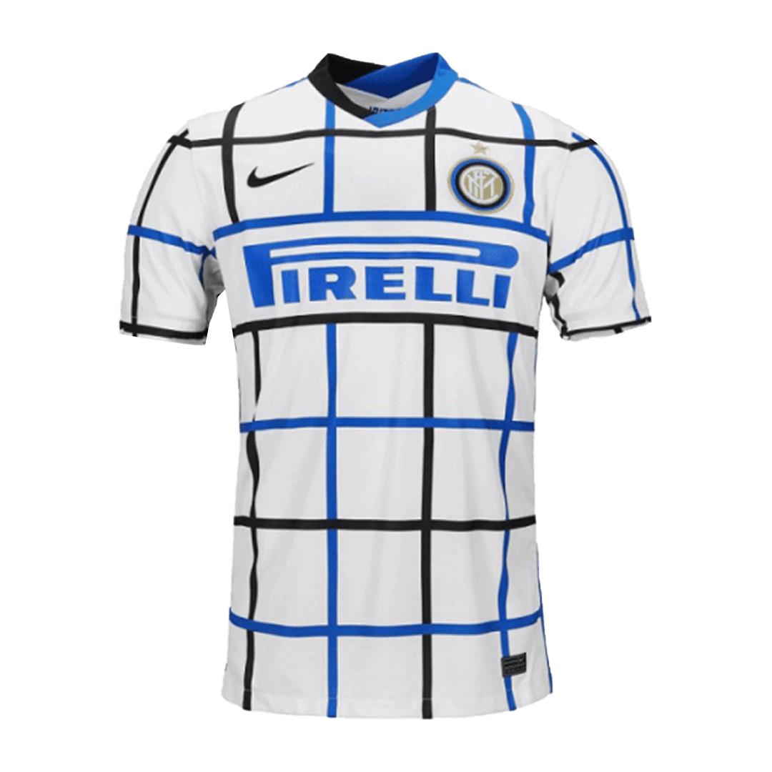 20/21 Inter Milan Away Authentic Jersey White Soccer Jerseys Shirt