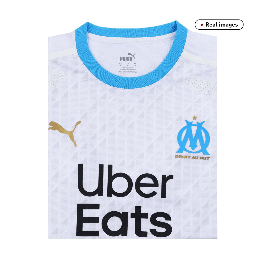 20/21 Marseille Home Jersey Mens White Soccer Jerseys Shirt