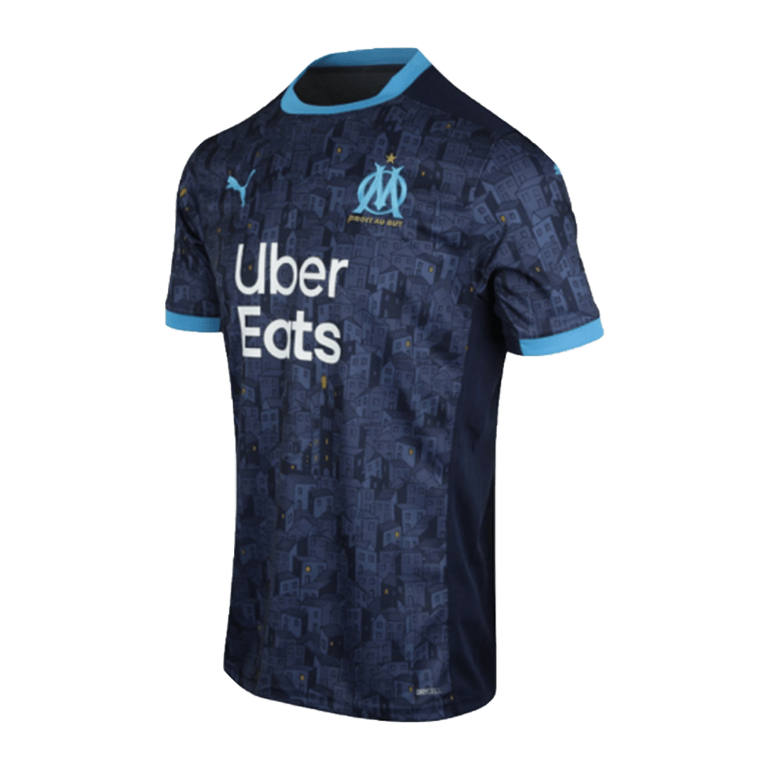20/21 Marseille Away Authentic Jersey Navy Soccer Jerseys Shirt