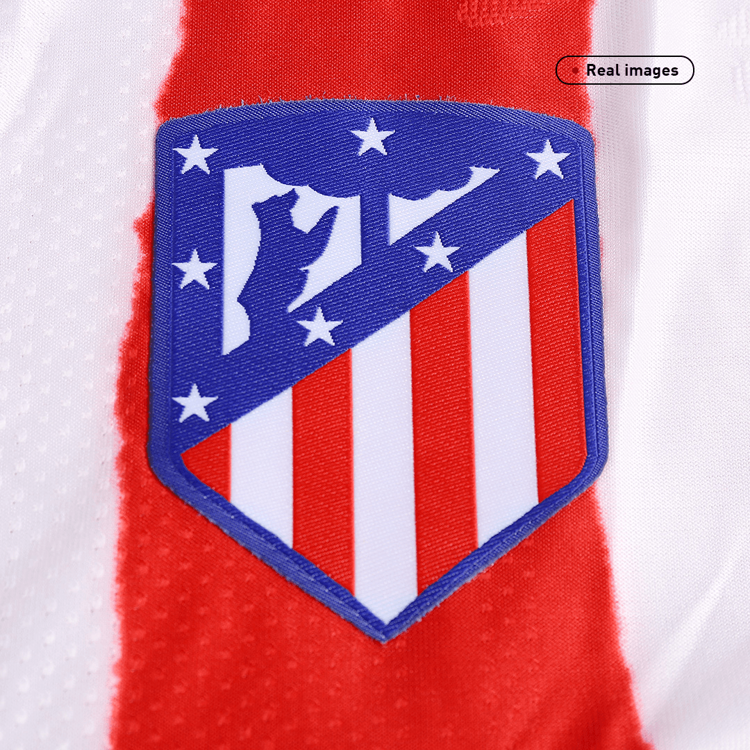 20/21 Atletico Madrid Home Authentic Jersey Red&White Soccer Jerseys Shirt