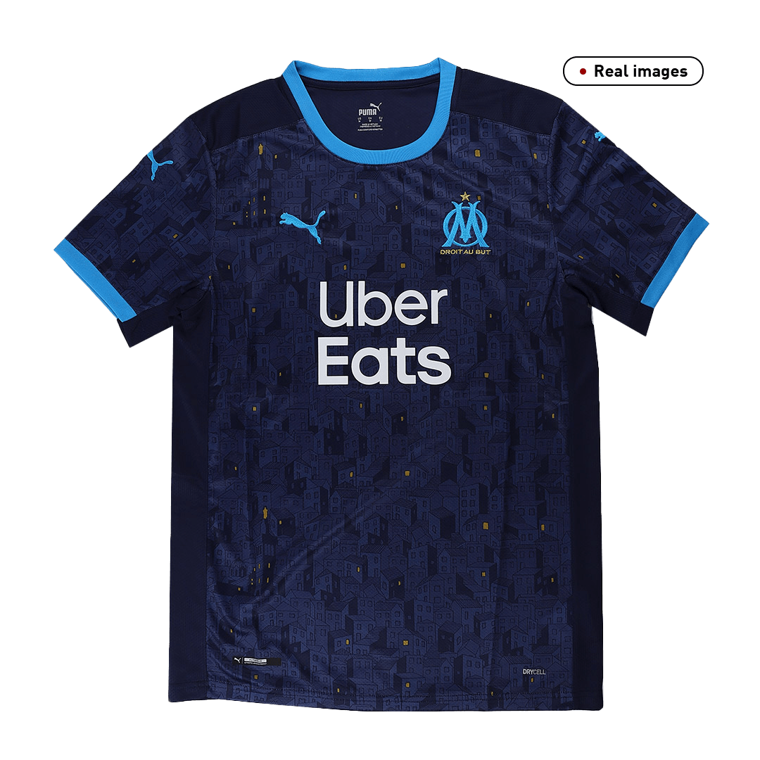 20/21 Marseille Away Jersey Mens Navy Soccer Jerseys Shirt