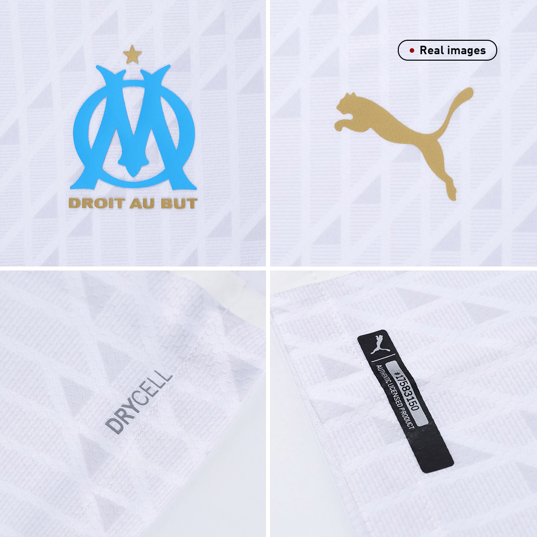20/21 Marseille Home Authentic Jersey White Soccer Jerseys Shirt