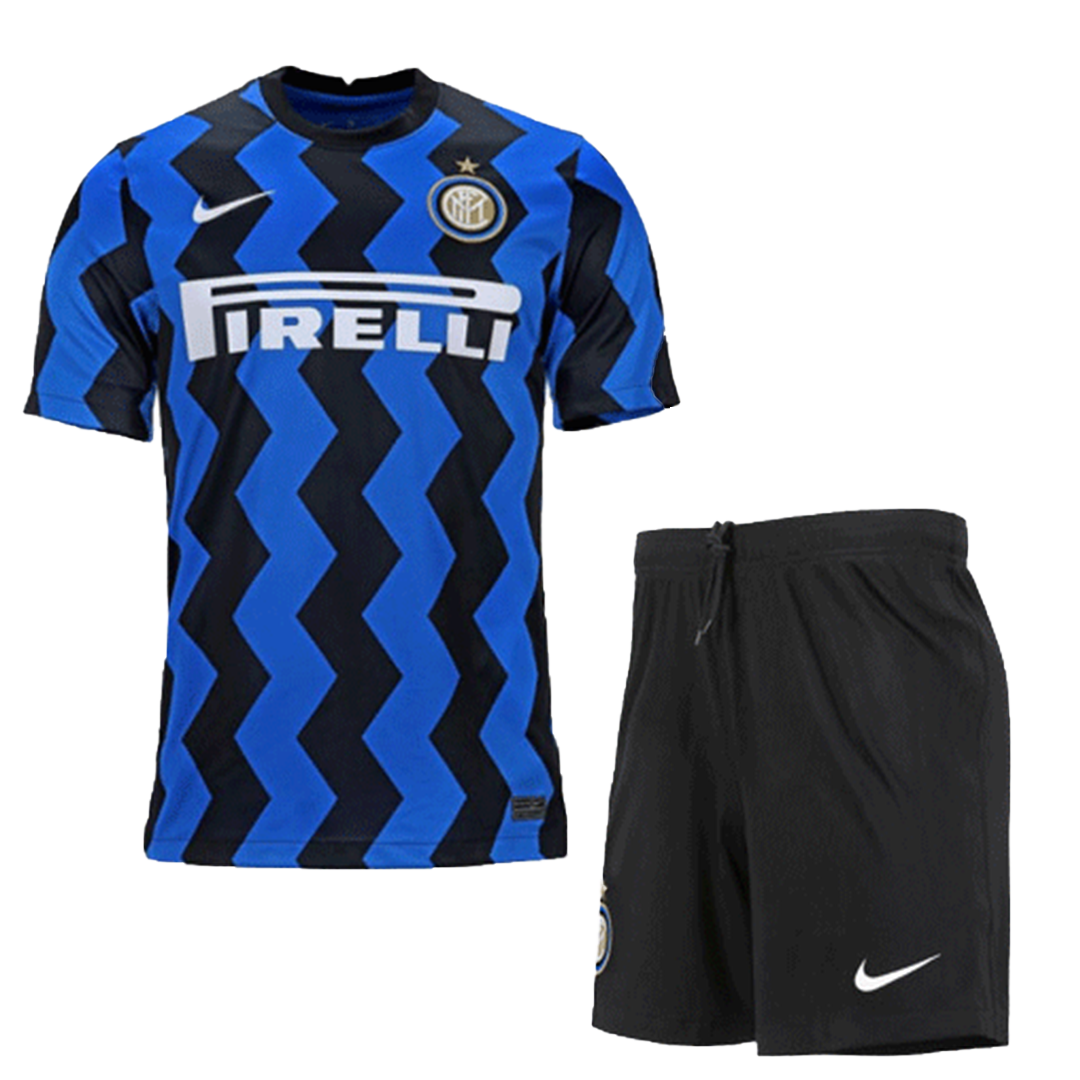 20/21 Inter Milan Home Blue&Black Soccer Jerseys Kit(Shirt+Short)