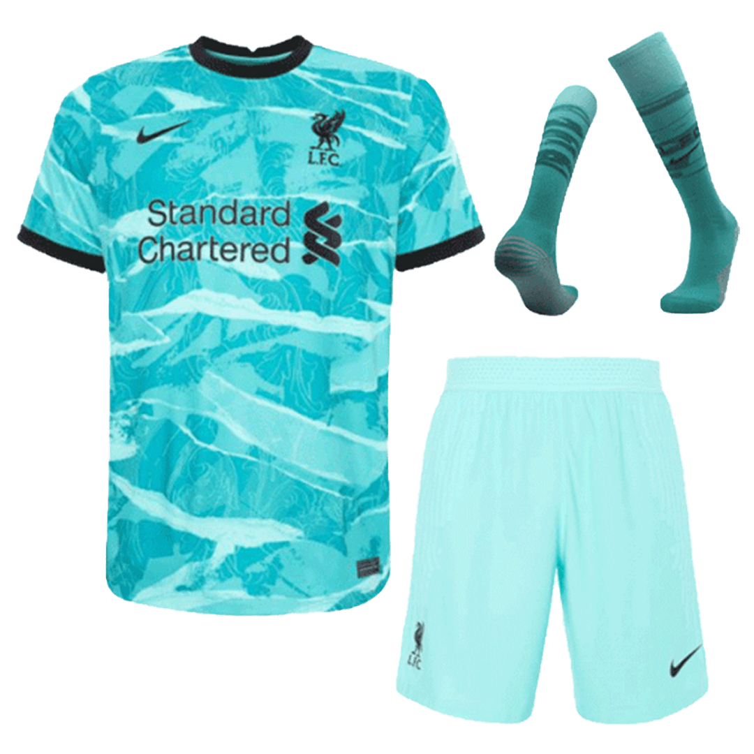 Liverpool Away Full Kit 2020/21 By Nike