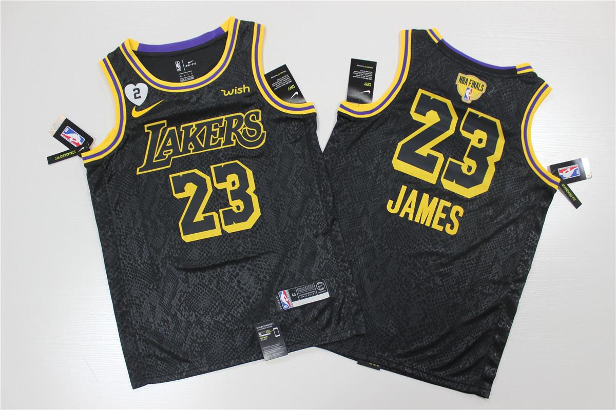 Men's Los Angeles Lakers LeBron James No.23 Black 2020 NBA Final Swingman Jersey - City  Edition
