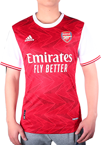 20/21 Arsenal Home Authentic Jersey Red Soccer Jerseys Shirt