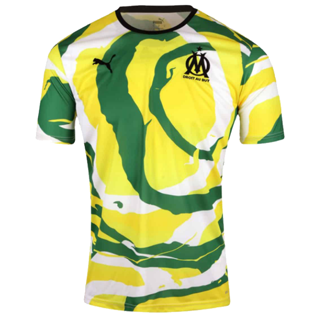 20/21 Marseille 'OM Africa' Jerseys Puma And OM Unveil Soccer Jersey-White/Green/ Yellow