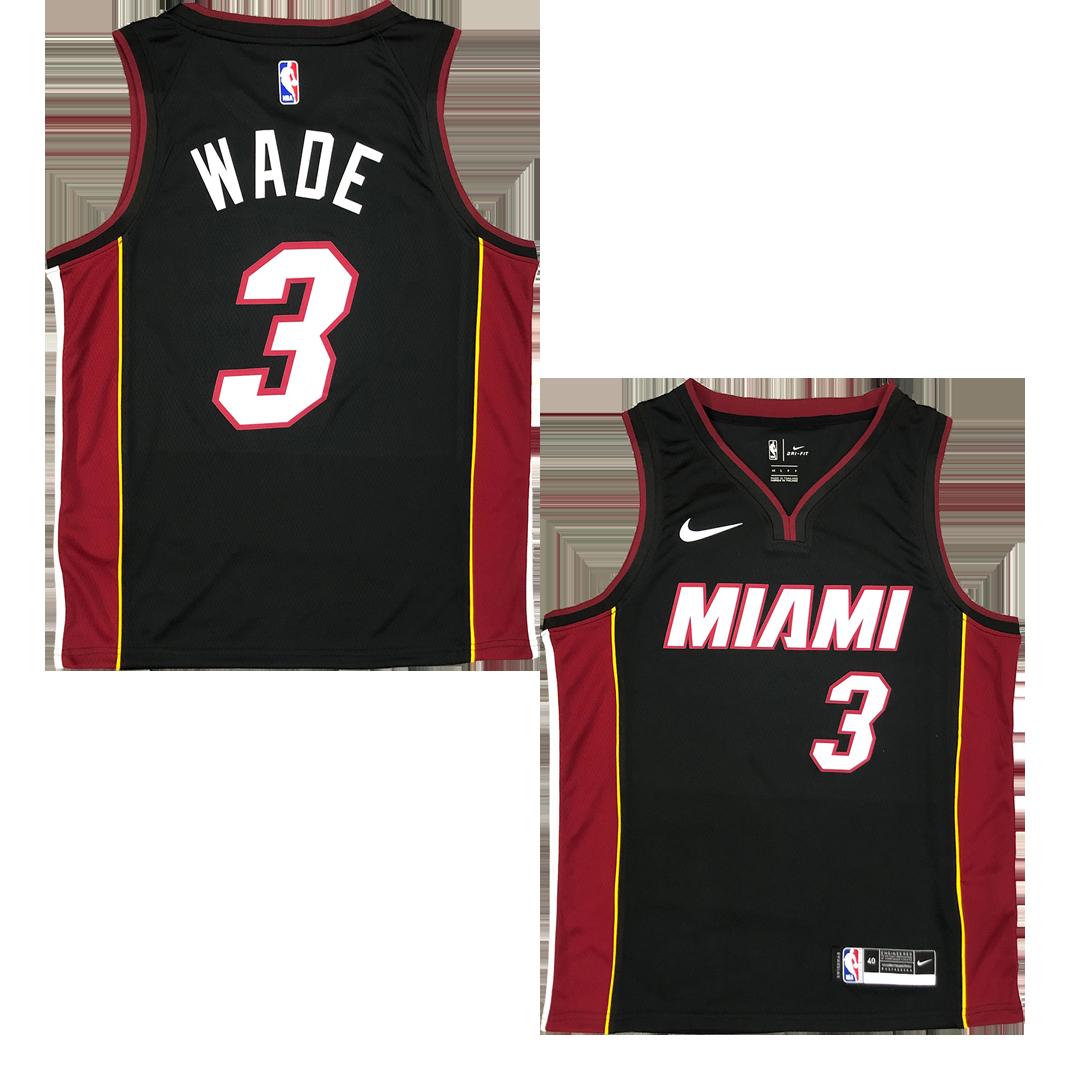 Swingman Wade #3 Brooklyn Nets Jersey By Nike Black