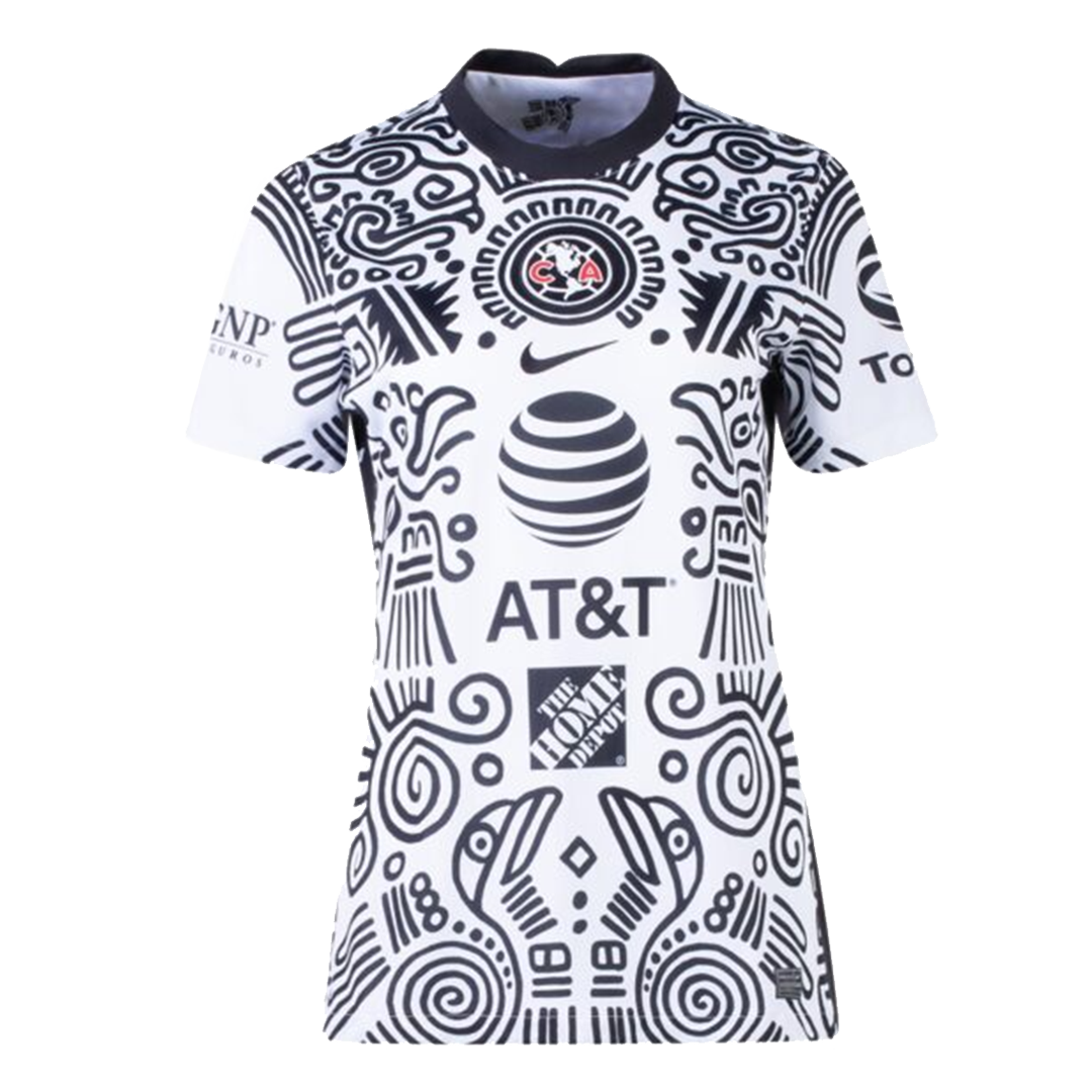 2021 Club America Third Away Jersey White Women's Soccer Jerseys