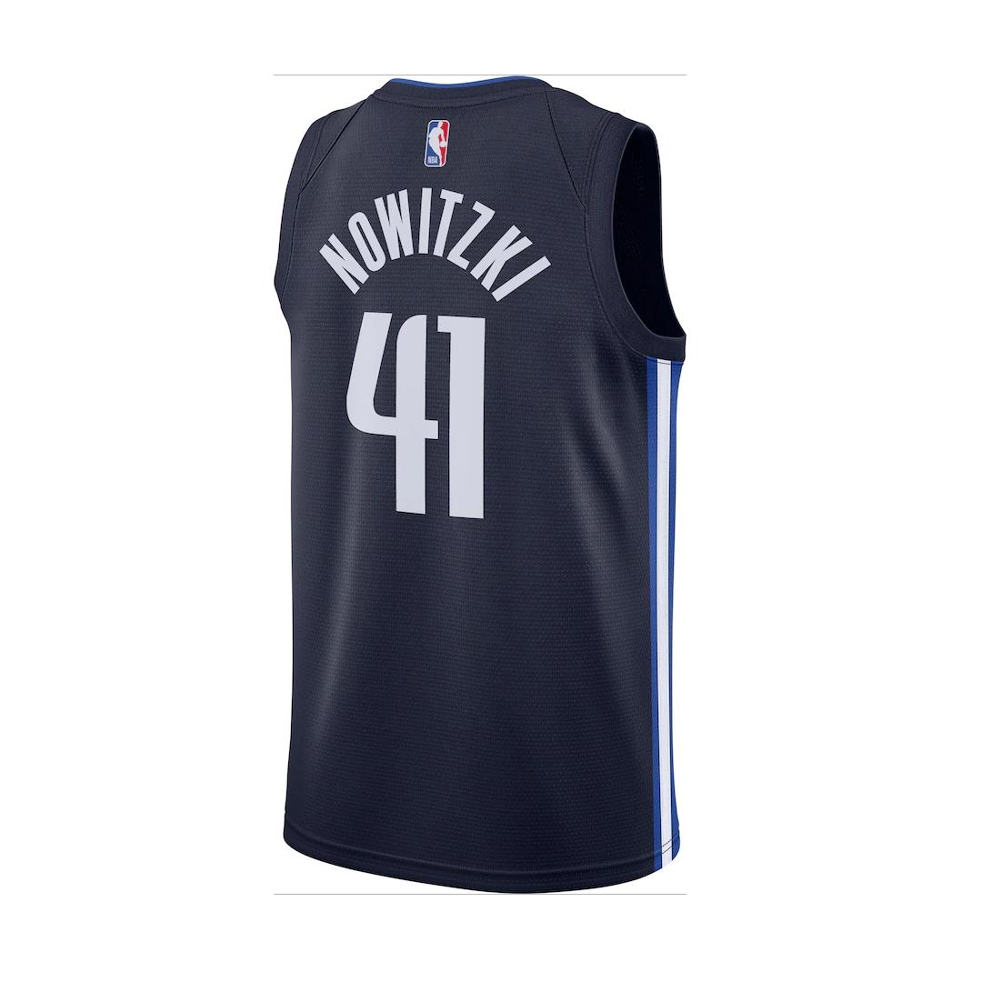 Swingman Dirk Nowitzki #41 Dallas Mavericks Jersey By Nike Navy