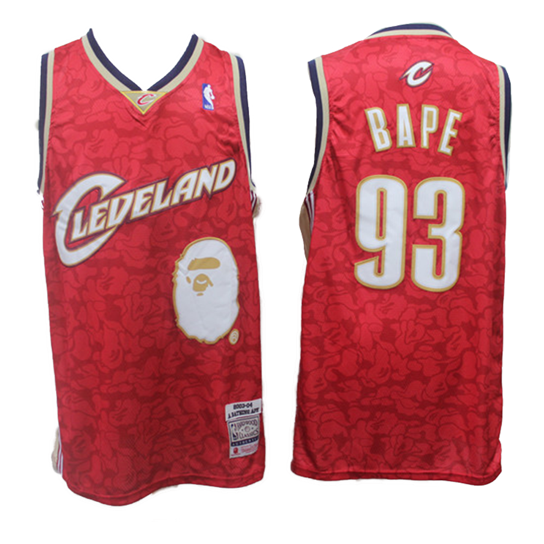 Retro Cleveland Cavaliers Jersey By Mitchell & Ness Red