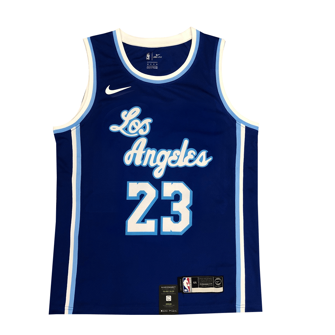 Men's Los Angeles Lakers LeBron James #23 Nike Blue 2020 Swingman Jersey - Classic Edition