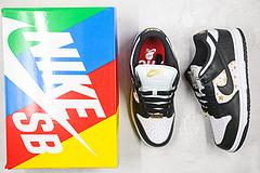 Sneakers By Nike SB Dunk Low Supreme Stars Black