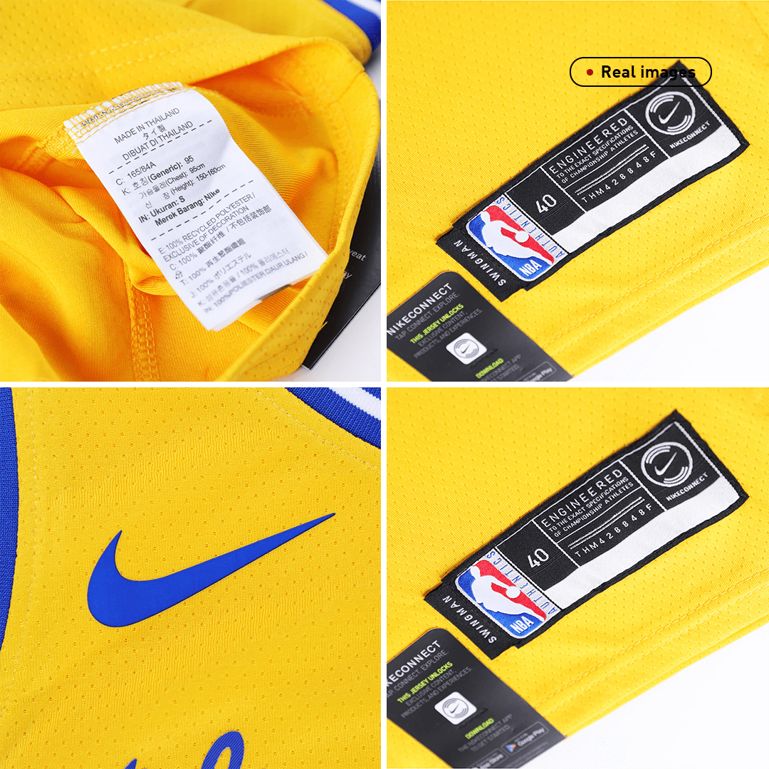 Swingman Curry #30 Golden State Warriors Jersey By Nike Yellow
