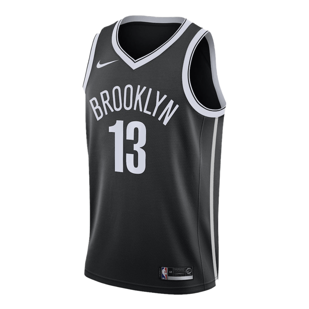 Swingman Harden #13 Brooklyn Nets Jersey 2020/21 By Nike Black