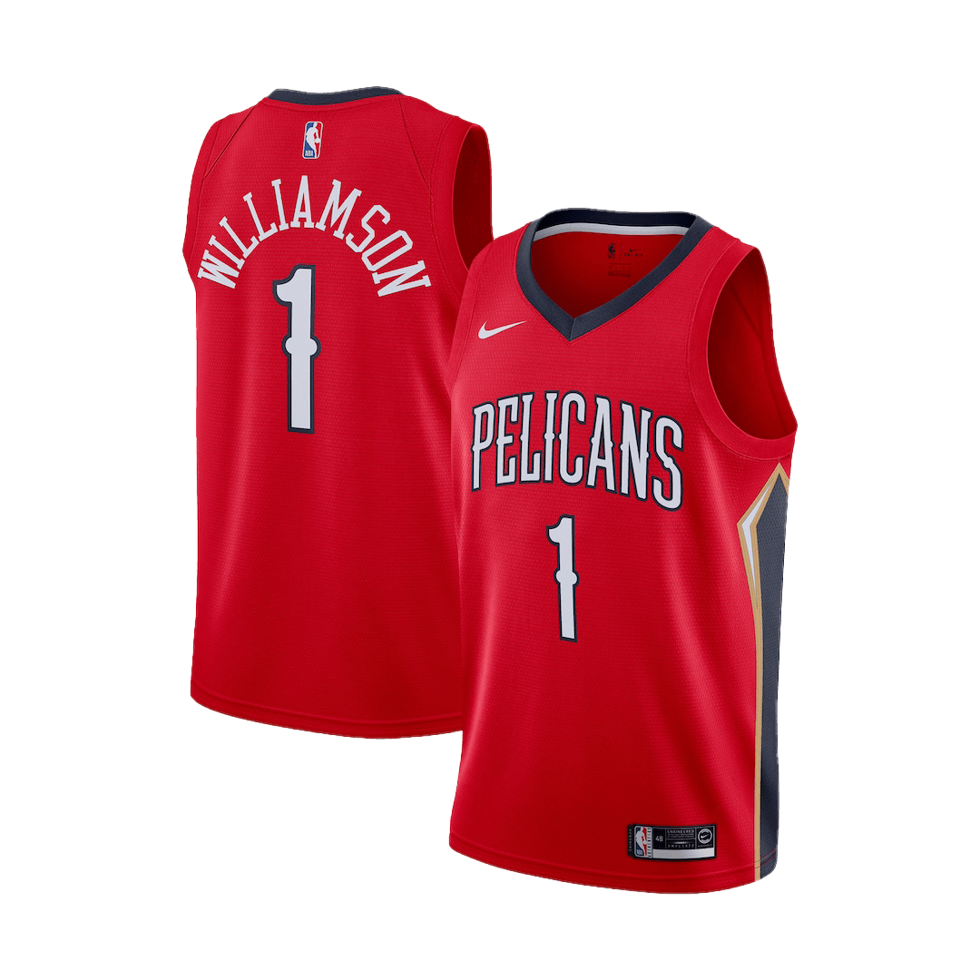 Swingman Zion Williamson #1 New Orleans Pelicans Jersey 2019/20 By Nike Red