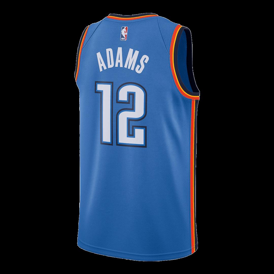 Swingman Steven Adams #12 Oklahoma City Thunder Jersey By Nike Blue
