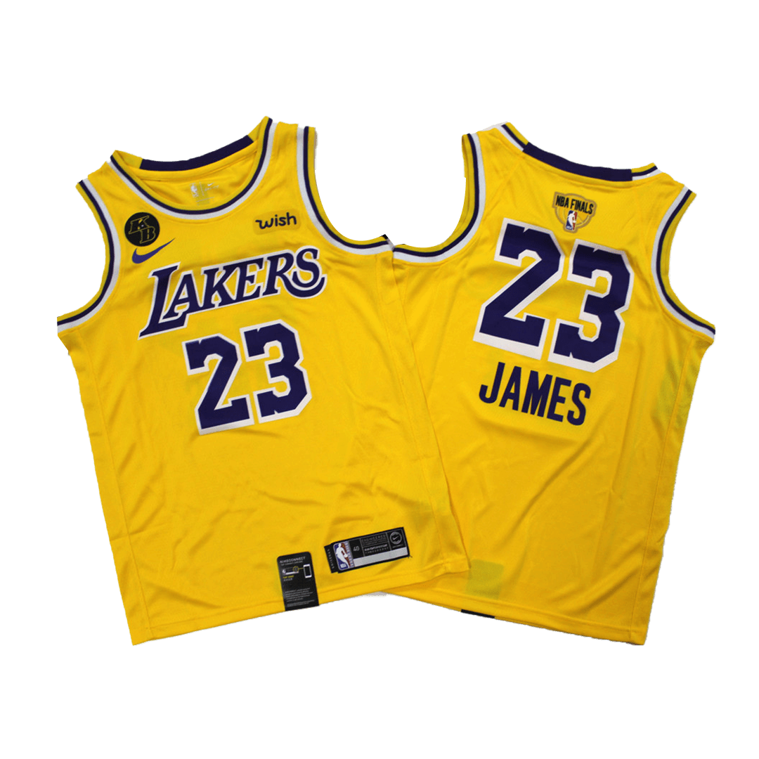 Swingman LeBron James #23 Los Angeles Lakers Jersey 2020 By Nike Yellow