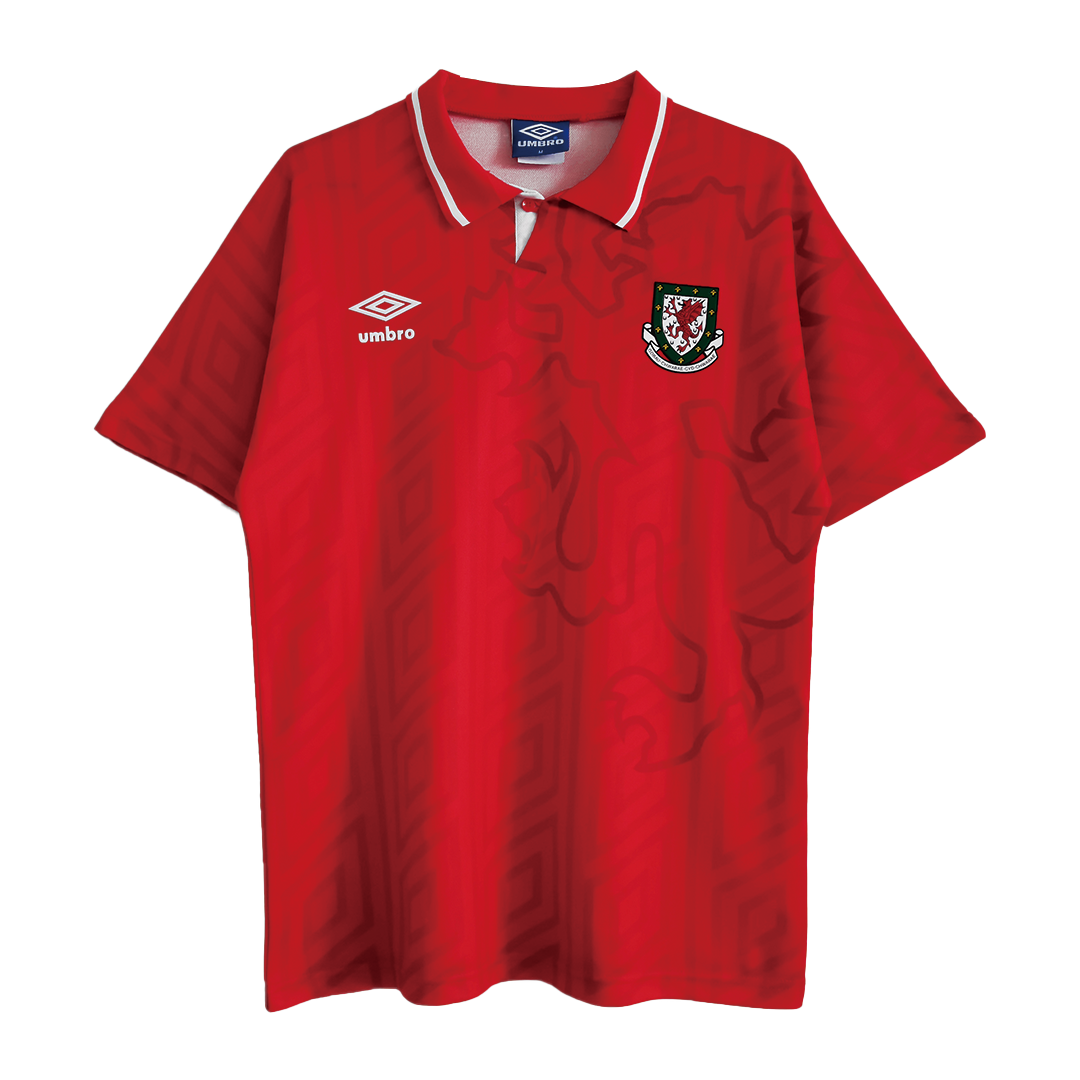 Retro Wales Home Jersey 1992/94 By Umbro