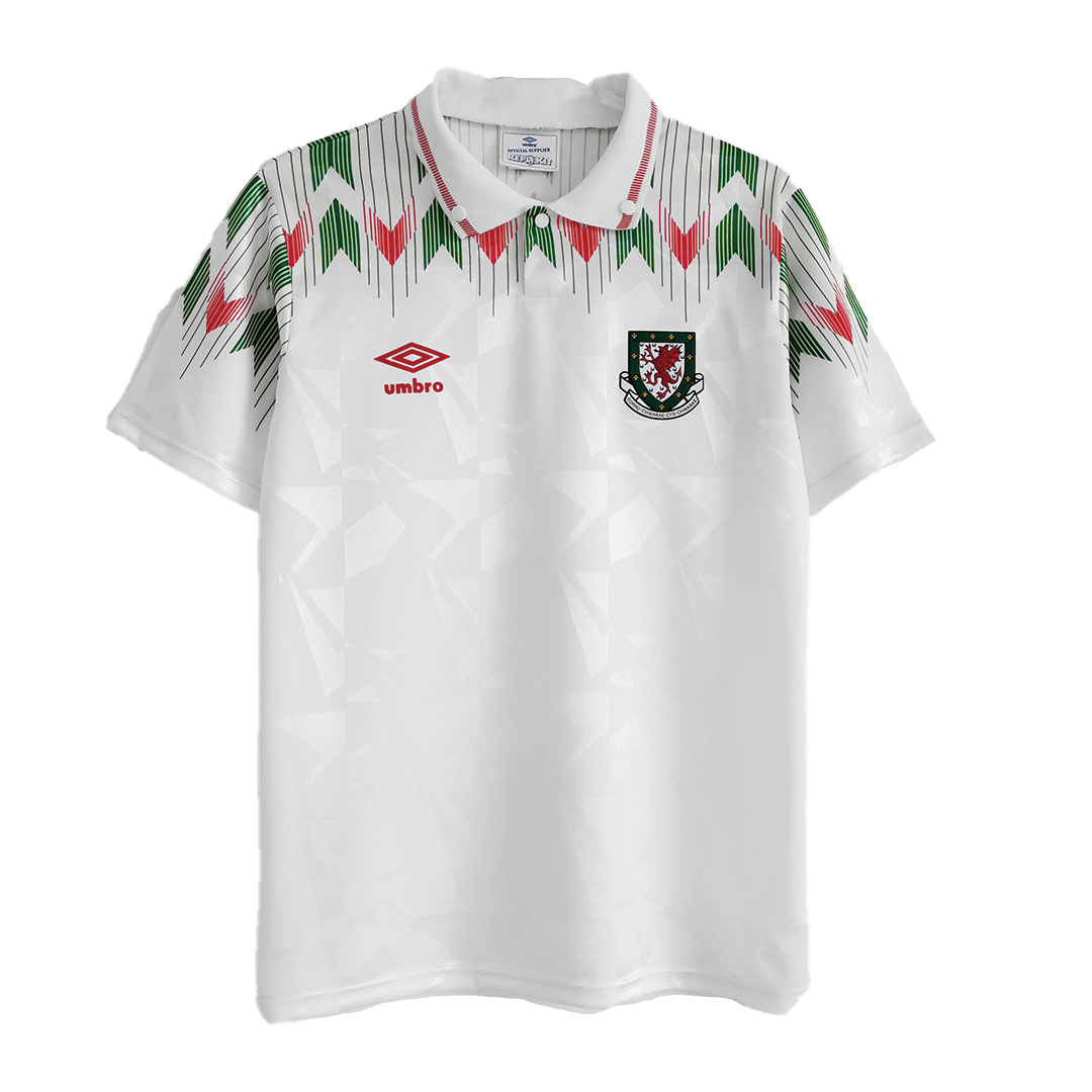 Retro Wales Away Jersey 1990/92 By Umbro
