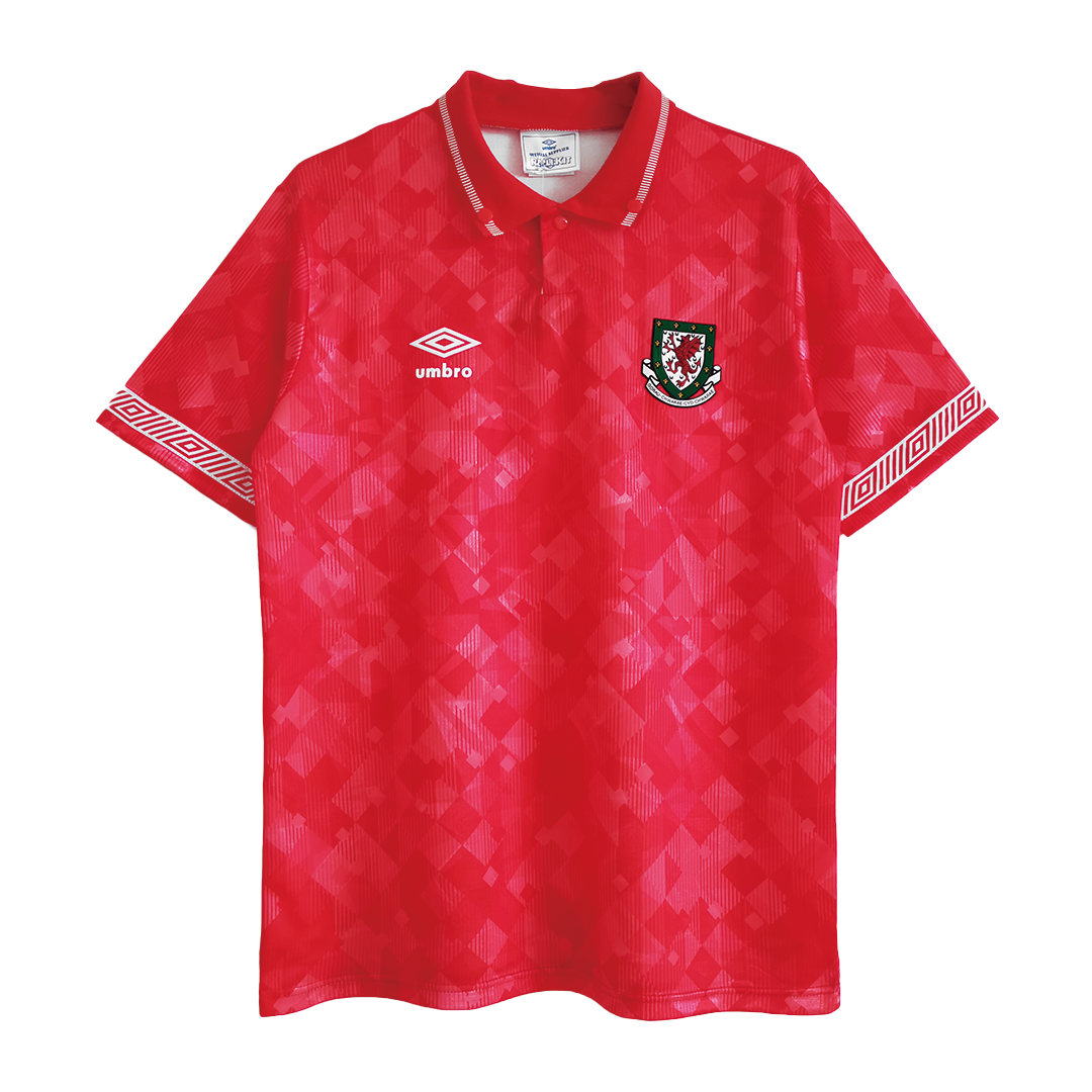 Retro Wales Home Jersey 1990/92 By Umbro