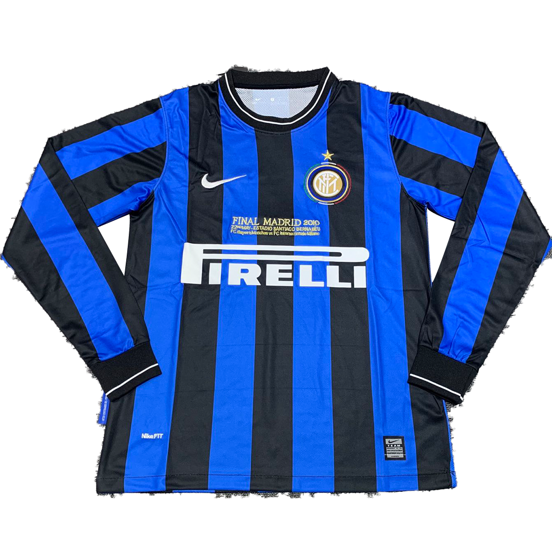 Retro Inter Milan Home Long Sleeve Jersey 2010 By Nike