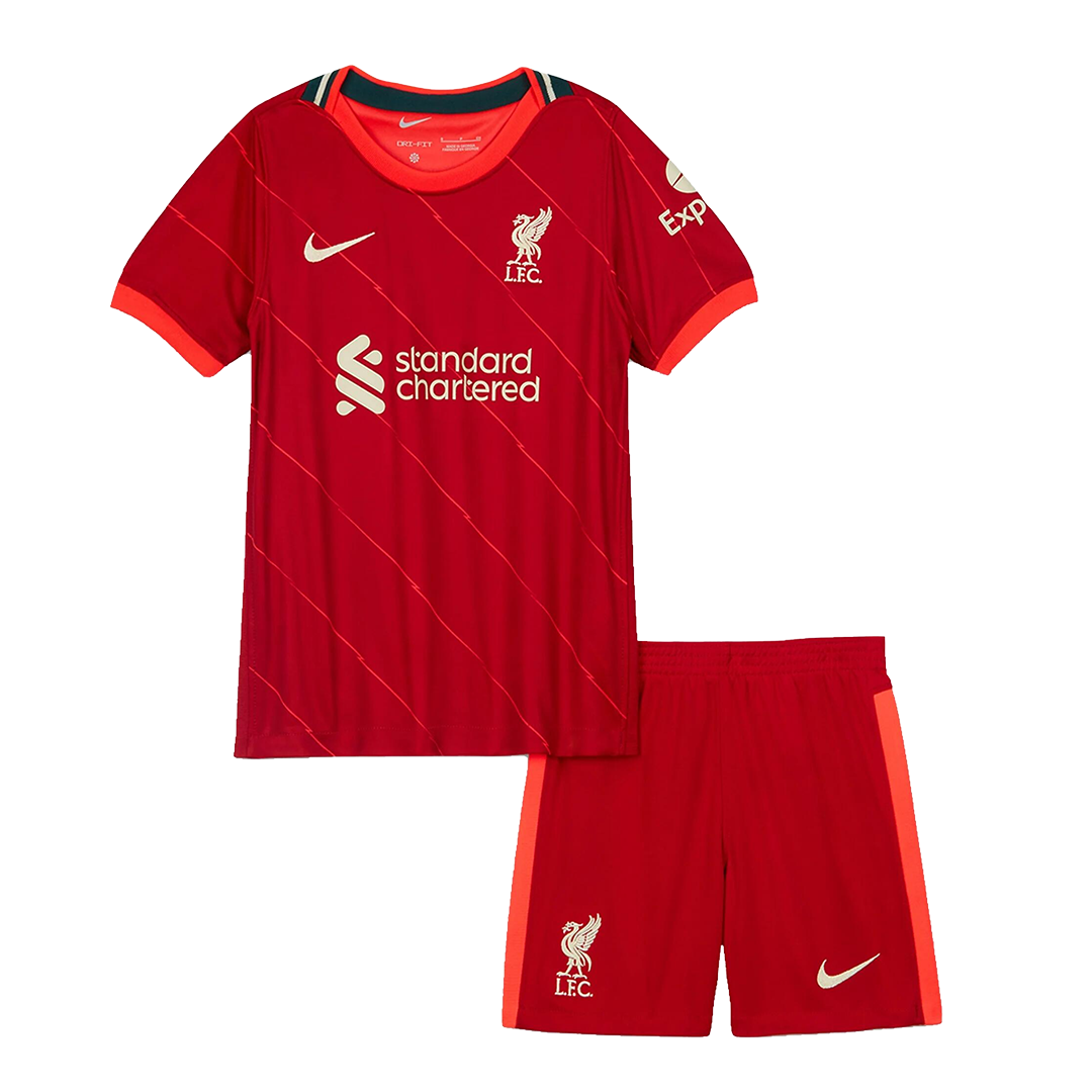 Liverpool Home Kit 2021/22 By Nike Kids