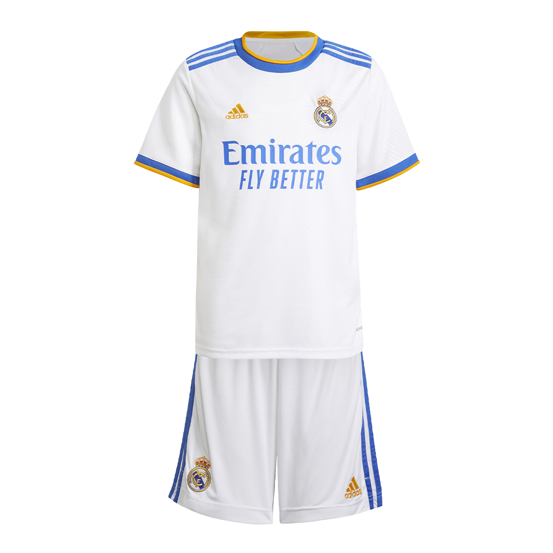 Real Madrid Home Kit 2021/22 By Adidas Kids