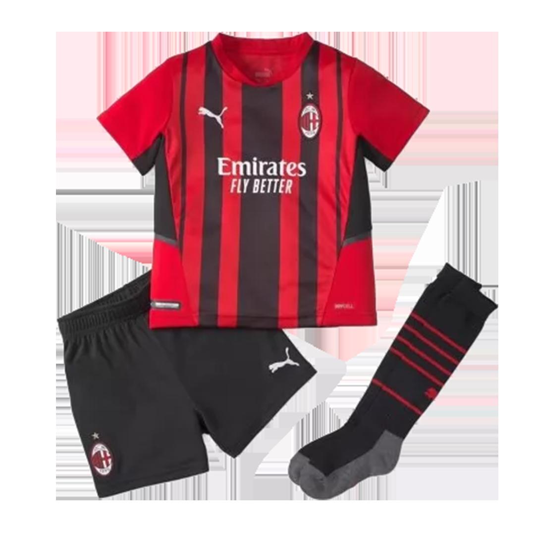 AC Milan Home Full Kit 2021/22 By Puma Kids