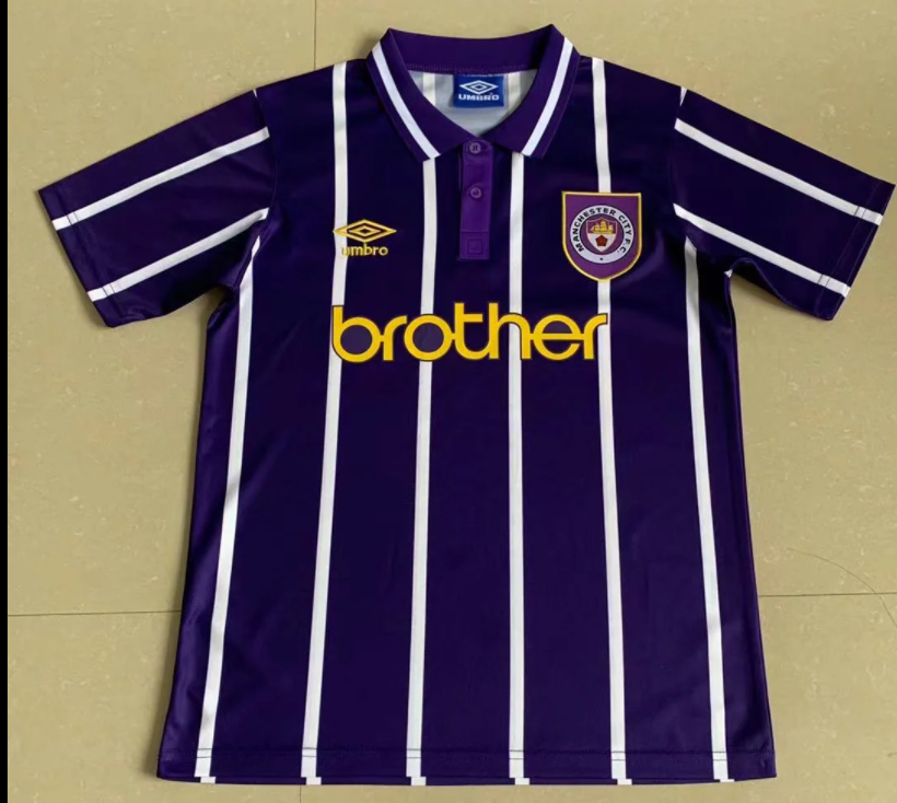 Retro Manchester City Away Jersey 1993 By Adidas