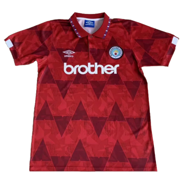 Retro Manchester City Away Jersey 1991 By Adidas