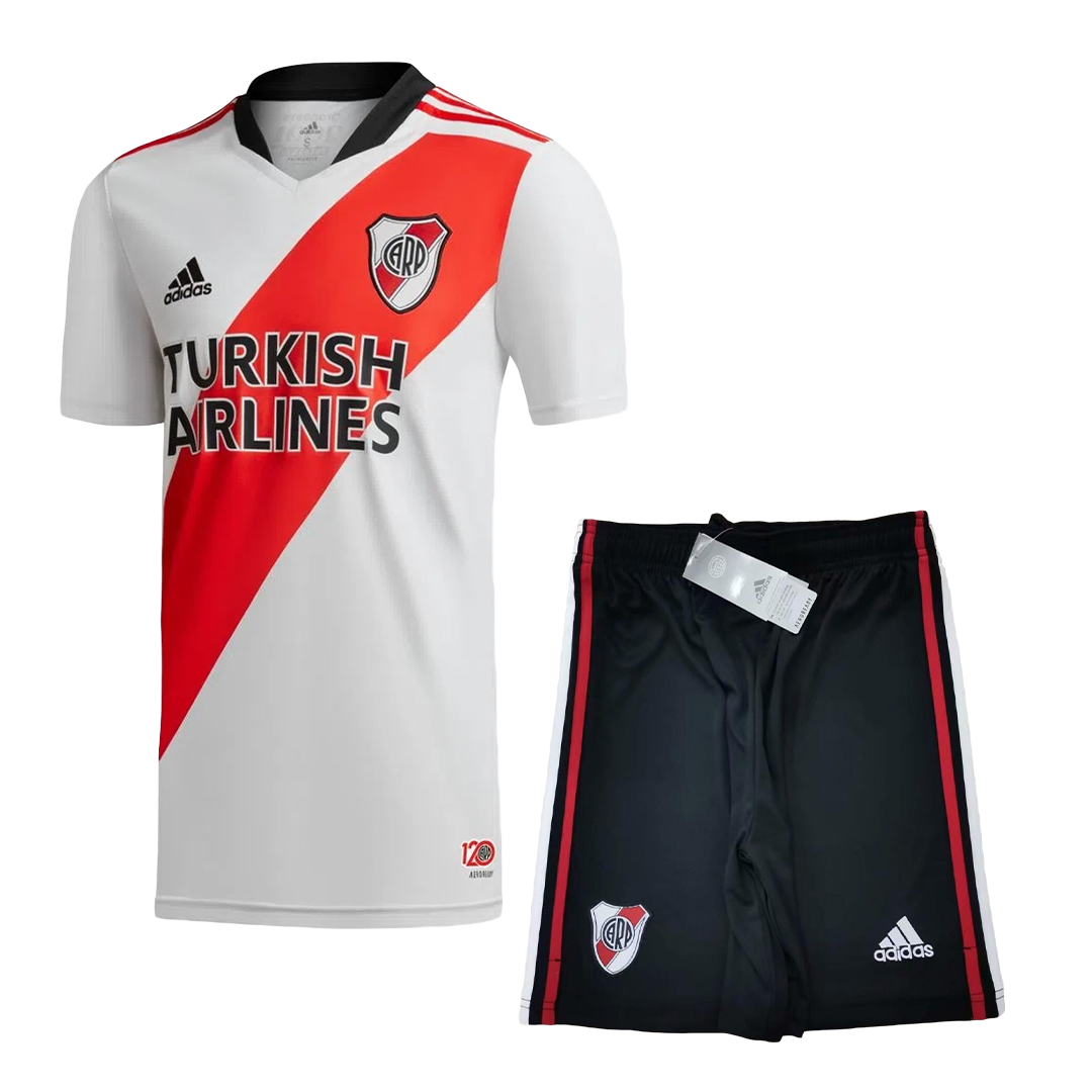 River Plate Home Full Kit 2021/22 By Adidas Kids