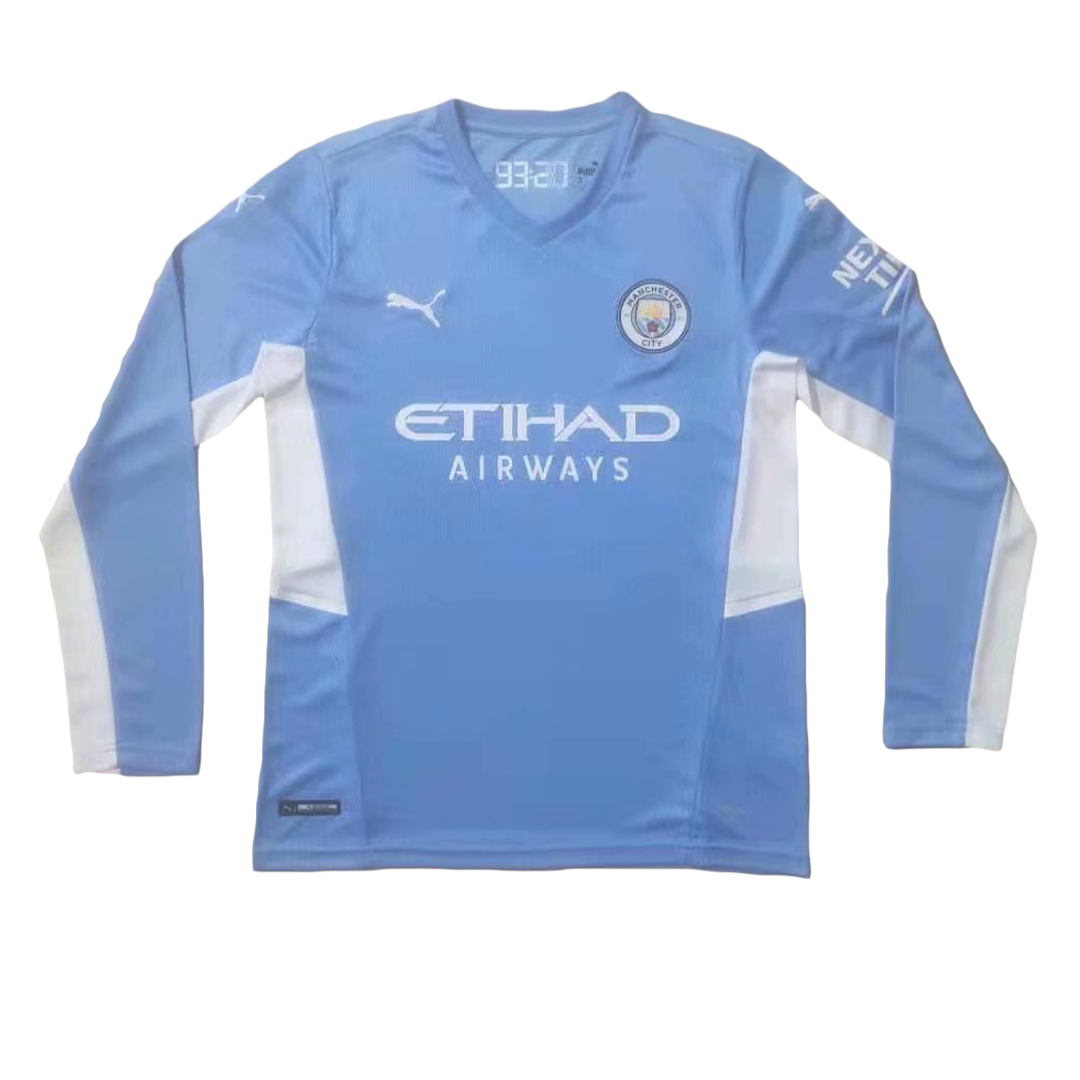 Manchester City Home Long Sleeve Jersey 2021/22 By Puma