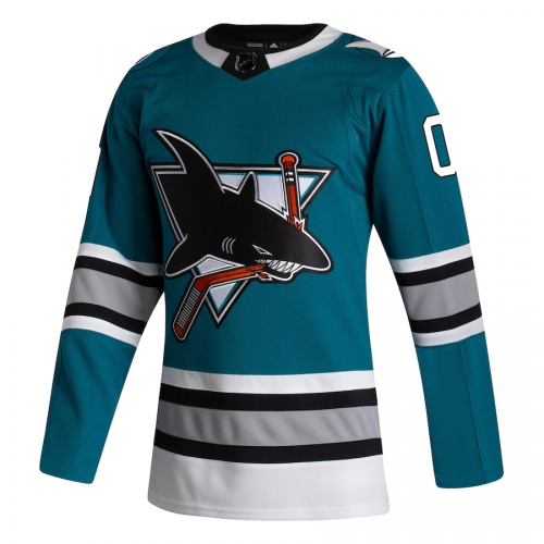 Authentic San Jose Sharks USA Hockey Teal 30th Anniversary Jersey By Adidas