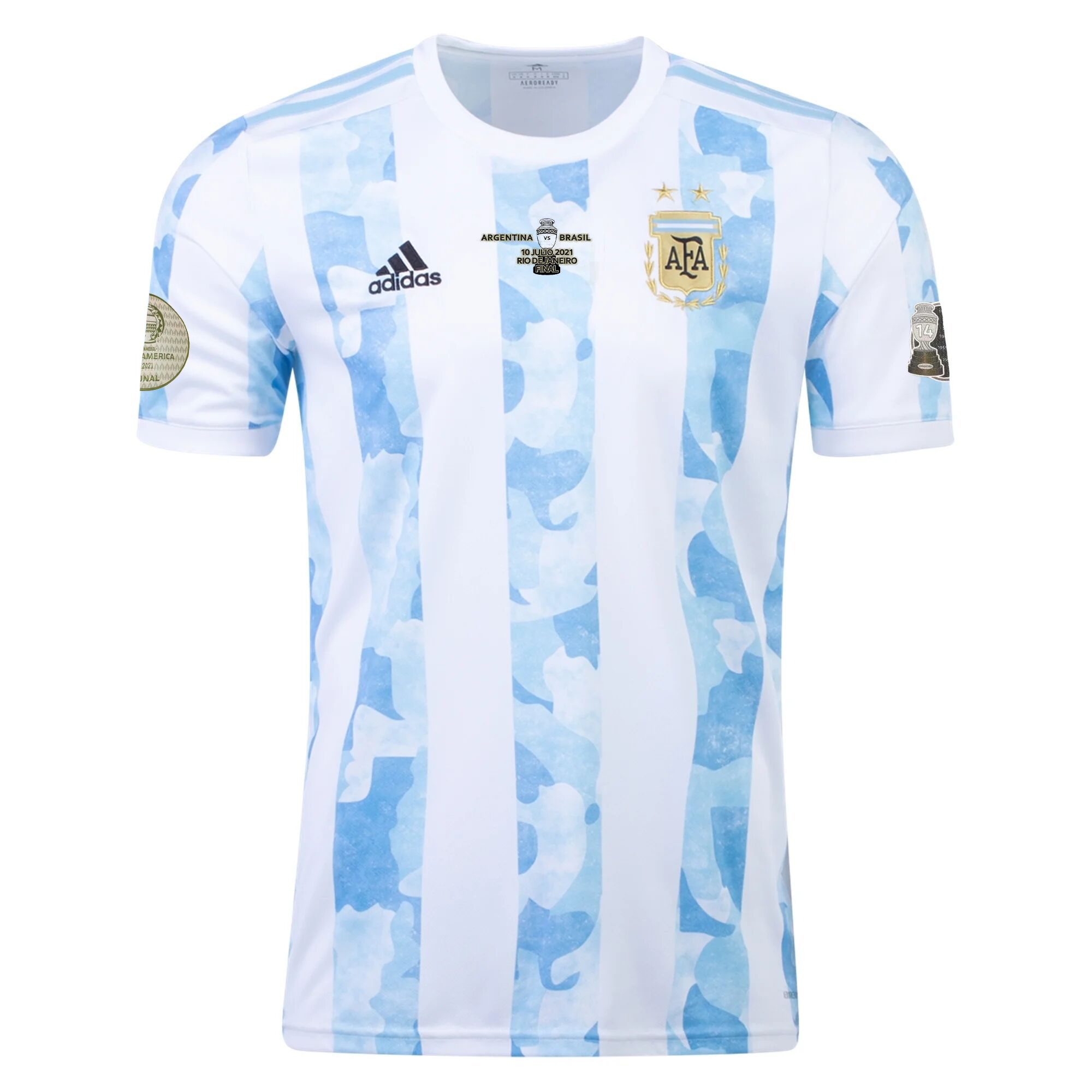 Replica Argentina Home Jersey Copa America 2021 Final By Adidas